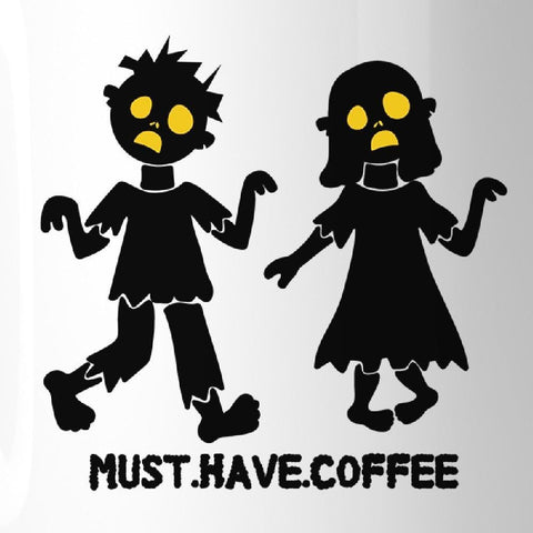 Image of Must Have Coffee Zombies White Mug - Apparel & Accessories