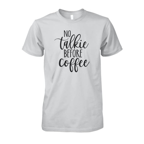 No Talkie Before Coffee Tee - Ash Grey / S - Short Sleeves