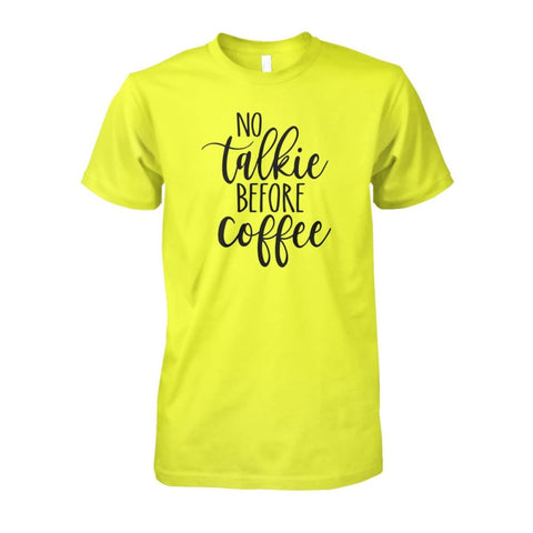 No Talkie Before Coffee Tee - Daisy / S - Short Sleeves