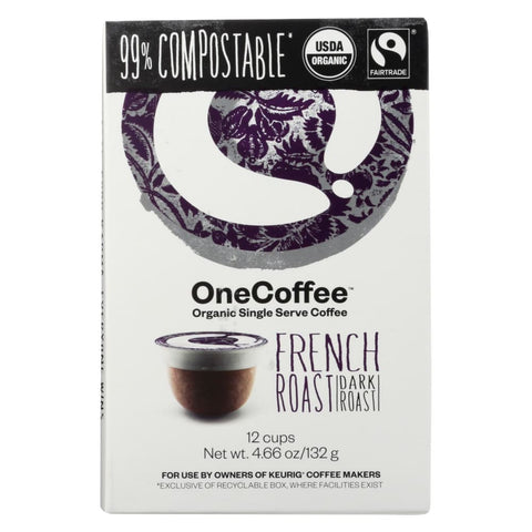 One Coffee - French Roasted - Case Of 6 - 12 Count - Eco-Friendly Home & Grocery