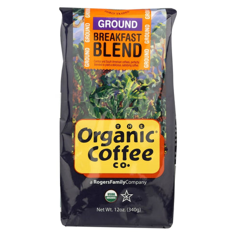 Image of Organic Coffee Company Ground Coffee - Breakfast Blend - Case Of 6 - 12 Oz. - Eco-Friendly Home & Grocery