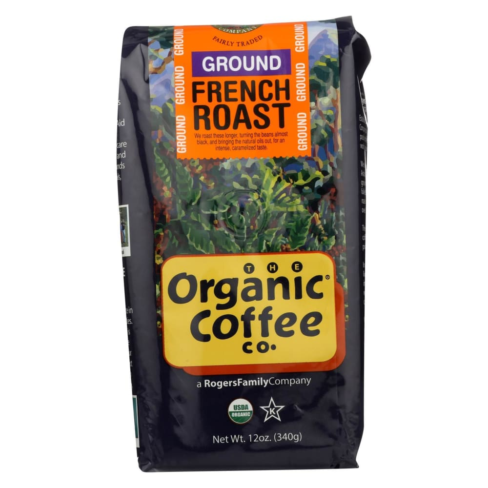Organic Coffee Coffee - Organic - Ground - French Roast - 12 Oz - Case Of 6 - Eco-Friendly Home & Grocery