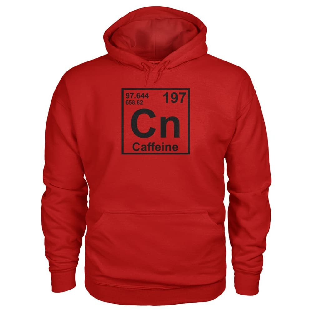 Periodic Table Caffeine Hoodie - Cherry Red / S - Hoodies