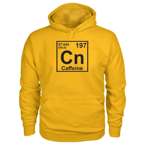 Image of Periodic Table Caffeine Hoodie - Gold / S - Hoodies