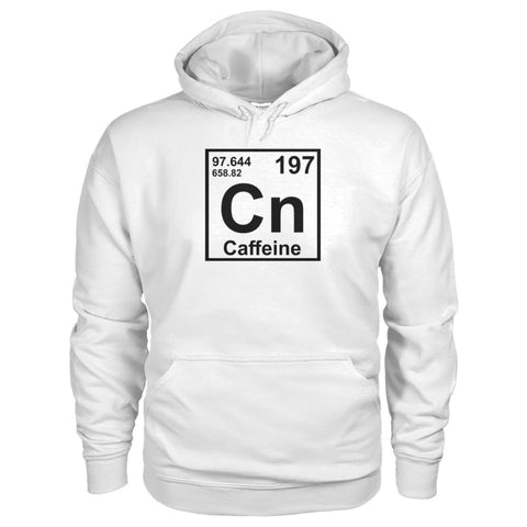 Image of Periodic Table Caffeine Hoodie - White / S - Hoodies