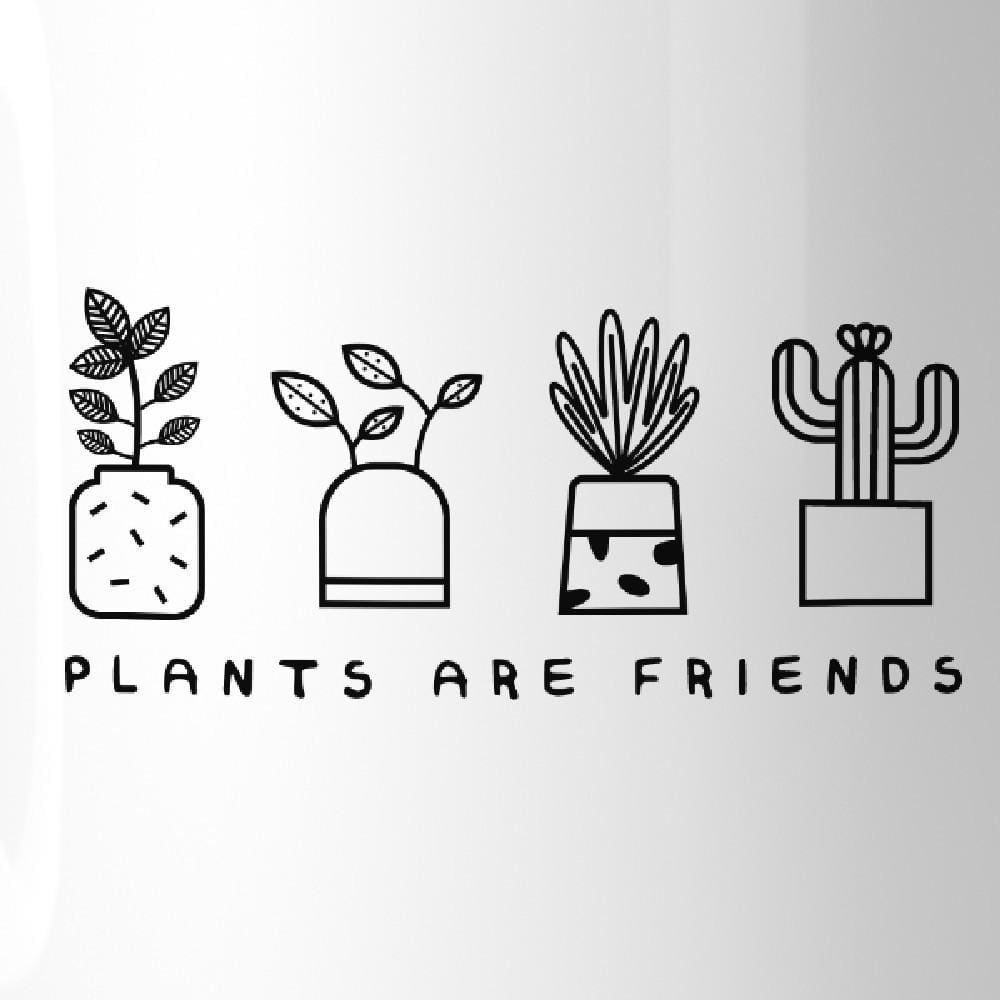 Plants Are Friends Cute Design Coffee Mug Gift Idea For Plant Lover - Apparel & Accessories