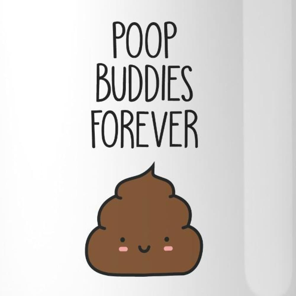 Poop Buddies BFF Matching White Mugs - Apparel & Accessories
