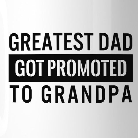Image of Promoted To Grandpa Coffee Mug Baby Announcement Gift For Grandpa - Apparel & Accessories