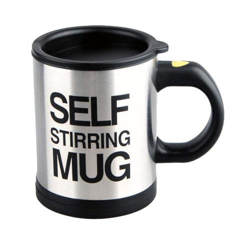 Image of Stainless Steel Self Stirring Coffee Mug