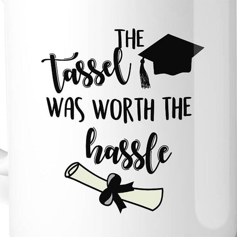 Image of The Tassel Was Worth The Hassle White Mug - Apparel & Accessories