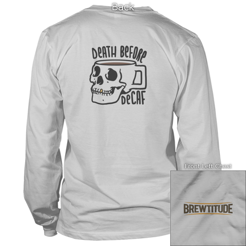 Death Before Decaf Back Design