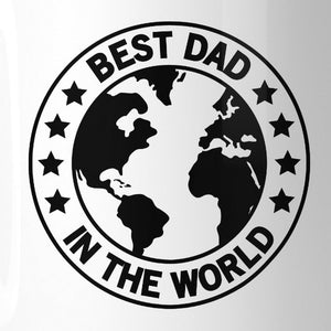 World Best Dad White Unique Design 11oz Ceramic Mug For Fathers Day