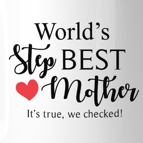 WorldS Best Stepmother Mug Mothers Day Gifts From Stepdaughter - Apparel & Accessories
