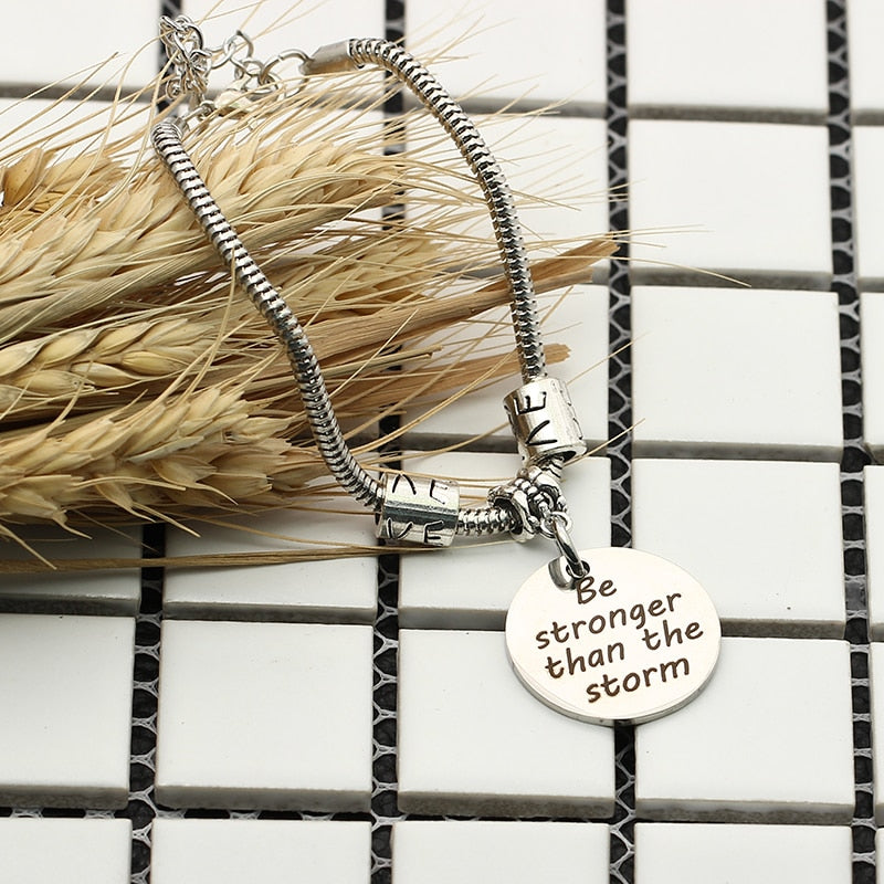 Be stronger than the storm Bracelet