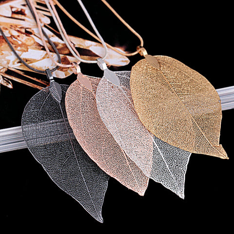 Image of Leaf Sweater Pendant Necklace