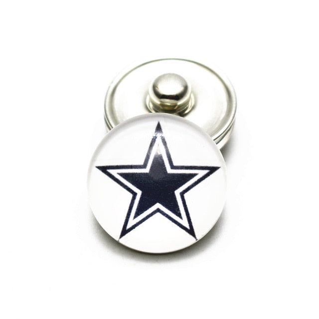 Cowboys 18mm Snap Buttons