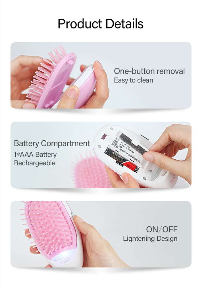 Anti-Static Hair Brush / Hair Straightener