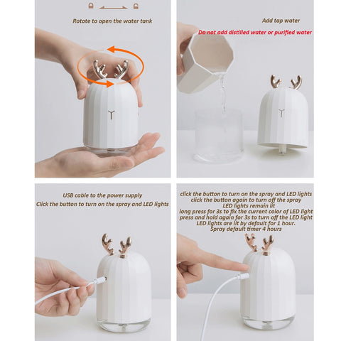 Ultrasonic Air Humidifier Aroma Essential Oil Diffuser
