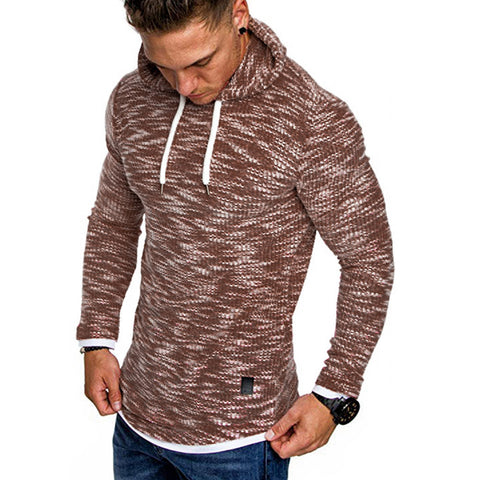 Image of Men's Autumn Long Sleeve Hoodie Hooded Sweatshirt
