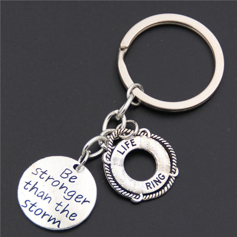 Be Stronger than the Storm Pendant Key Ring