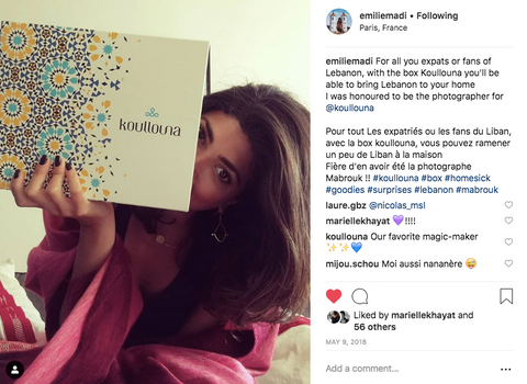 Emilie madi shares her experience with Koullouna box and supporting Lebanon as an expat