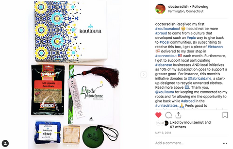 A Lebanese expat shares her experience with Koullouna box. Start supporting Lebanon wherever you are with a Lebanese box
