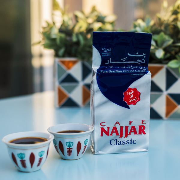 Traditional lebanese coffee by cafe najjar in the Koullouna sobhye Box