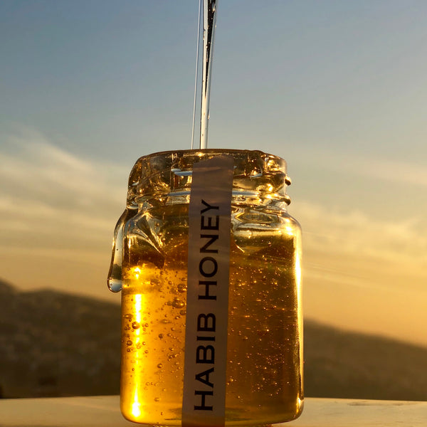 Organic honey by Habib Honey in the Lebanese Koullouna Tfaddalo box, in collaboration with Souk El Tayeb