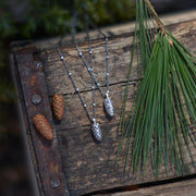 PRE-ORDER Silver Conelet Pinecone Necklace