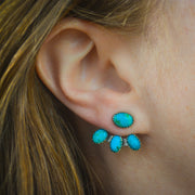 Mountain Maven Ear Jackets - Carico Lake and Red Mountain Turquoise Earrings