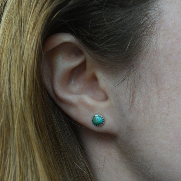 Turquoise Trail Studs - Simple New Lander Earrings