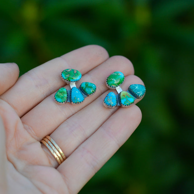 Mountain Maven Ear Jackets - Carico Lake Turquoise Earrings
