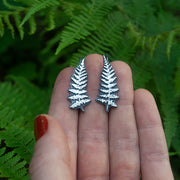 PRE-ORDER Silver Fern Ear Climber Earrings