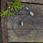 Silver Conelet Pinecone Necklace - READY TO SHIP