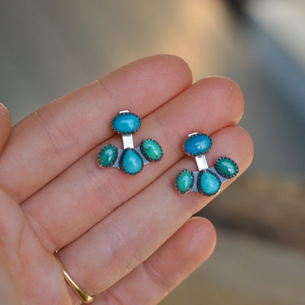 Mountain Maven Ear Jackets - Turquoise Collector's Earrings