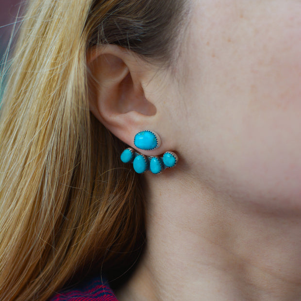 Mountain Maven Ear Jackets - Fox Turquoise Earrings