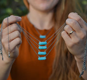 Natural Kingman Turquoise Bar Necklaces
