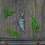 PRE-ORDER Simple Sterling Fern Necklace