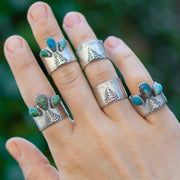 Rugged Spruce Ring- Turquoise Ring Size 6