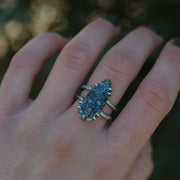 Wintry Woodland Ring - Size 7.25 - Natural Seven Dwarves Turquoise