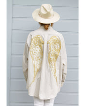 Load image into Gallery viewer, One of a Kind - Angel Wings Oversized Button Down (Hand Painted Design)