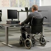 Are sit-stand desks suitable for wheelchair users?