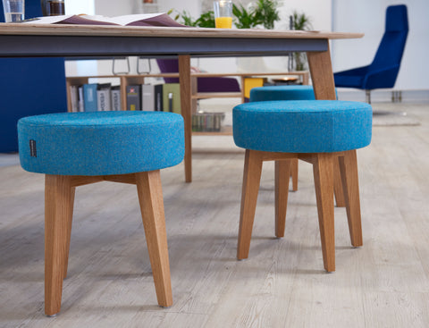 Worksphere Handcrafted Solid Oak Low Stool