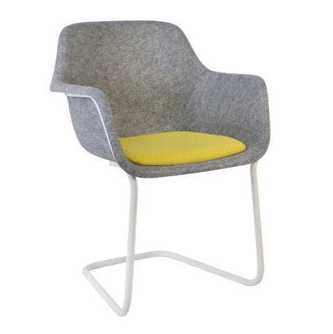 Moka Felt Sustainable Cantilever Tub Chair,