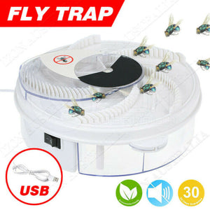 Insect Killer Fly Trap Electric Catcher Bug with Trapping Food -White USB Cable