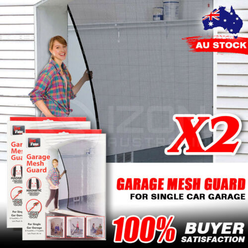2PCS Garage Mesh for One Car Door Antibugs Net Screen Single Car Garage Door