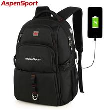 Men's Water Resistant Backpack with USB Charging