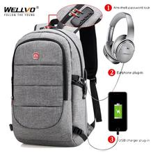 Men's External USB Charging Anti Theft Laptop Bag