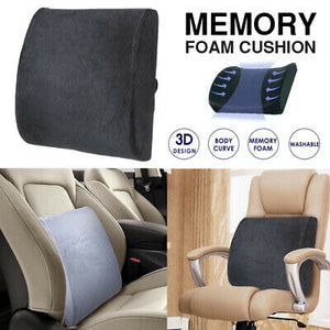 Memory Foam Lumbar Back Pillow Support Back Cushion Home Office Car Seat
