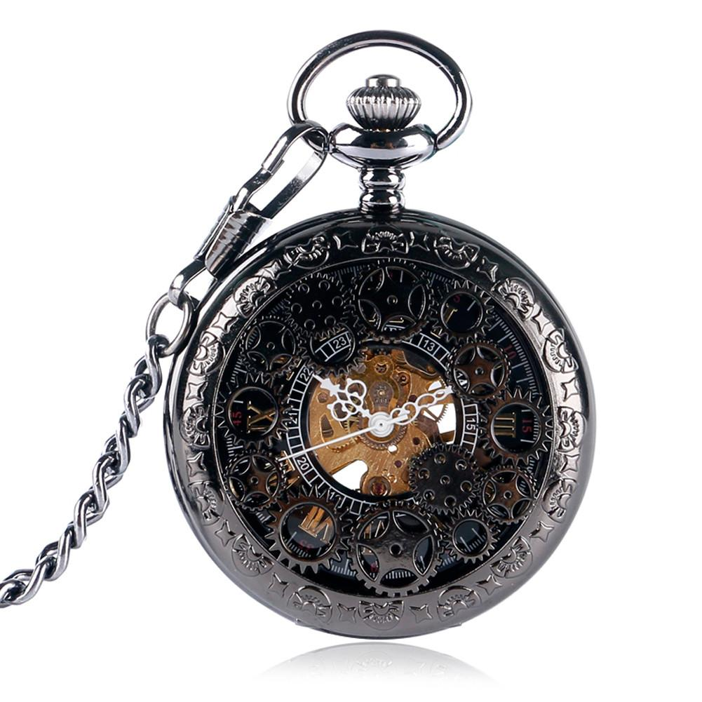 Mechanical Hand Wind Pocket Watch for Men